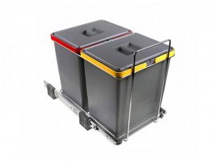 Vysouvací koš na tříděný odpad na odpad 2 koše 36 l Elletipi