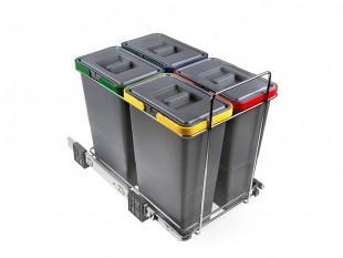 Vysouvací koš na tříděný odpad na odpad 4 koše 32 l Elletipi